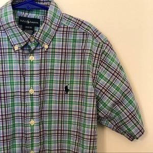 Ralph Lauren boy's button up shirt EUC size 10/12